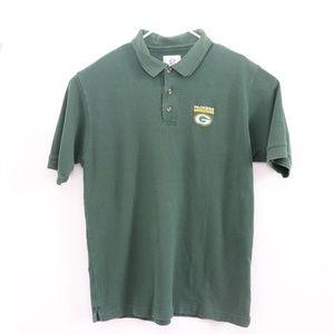 Green Bay Packers Football Green Golf Polo Shirt